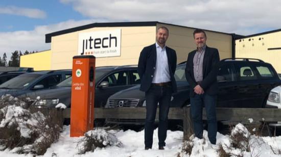 Anders Paulsson, Vice President på Jitech ochMarcus Boje, Key Account Manager på Enkla Elbolaget.