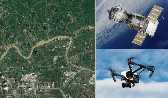 I Corob-projektet används bilder från satelliter och drönare för att hjälpa robotar att få en gemensam bild av sin omgivning.