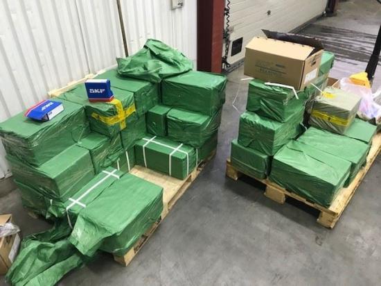 Hela sändningen,35 kartonger om cirka 800 kilo förfalskade kullager, upptäcktes i samband med en importkontroll i februari i år.