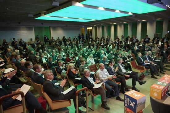 Ca 200 deltagare under lanseringen av Skogsnäringens Forskningsagenda 4.0.