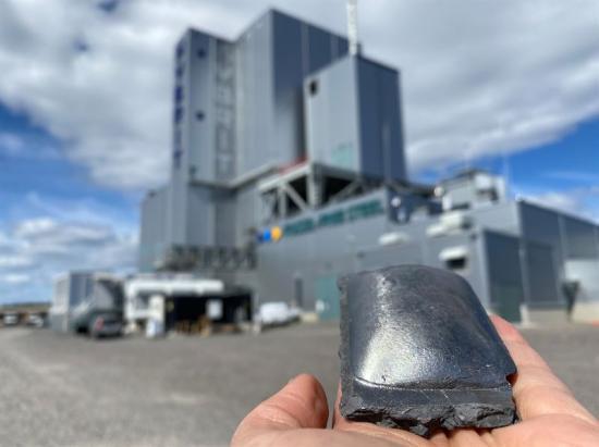 Järnsvamp producerad vid HYBRIT-piloten i Luleå.