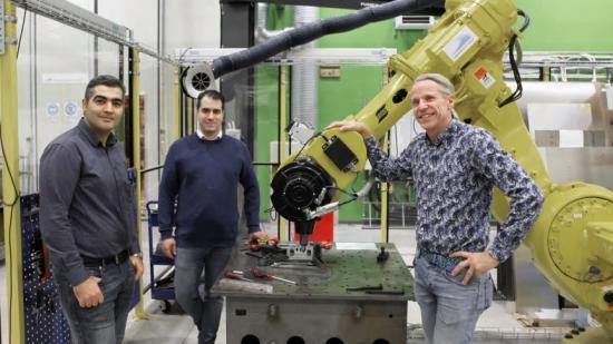 Esmaeil Sadeghi, programansvarig Masterprogram Additiv tillverkning, Vahid Hosseini, programansvarig Internationell Maskiningenjör och Per Nylén, prefekt Institutionen för Ingenjörsvetenskap.