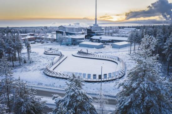 Forskningsparken Solvåg bredvid Piteå Science Park.