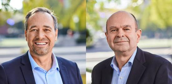 <span>Mathias Ternell, handelspolitisk direktör, och Bo-Erik Pers, vd.</span>