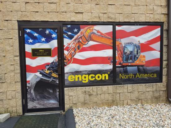 Utanför Engcons Nordamerika-kontor.