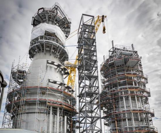 Heliosprojektet på SCA Östrand är nyligen avslutat, och SSGs standarder har använts i bygget.