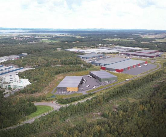 Visionsbild Sörreds Logistikpark, fastighet Sörred 8:12 (bilden är ett illustration).