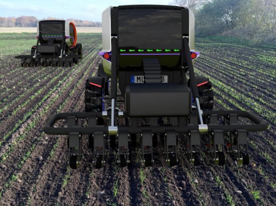Eldrivna jordbruksmaskiner ger kraftig minskade klimatutsläpp jämfört med dieseltraktorer.