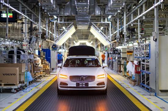 Bild från Volvos fabrik i Daqing, Kina.