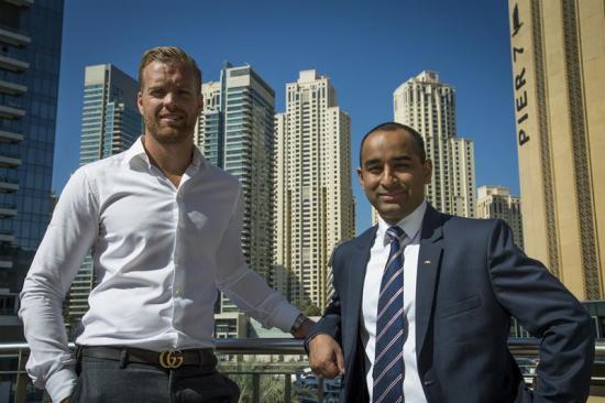 <span>William Stranne, Manager Chartering och Aayush Giri, <br /> General Manager är nu baserade i Dubai </span>
