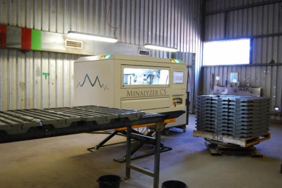 Minalyzer CS integrerad i arbetsflödet för kärnloggning på George Fisher gruvan i Mount Isa, Queensland.