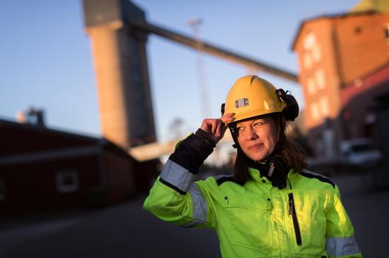 Annika Kruuna, chef för hälsa och säkerhet på Boliden gruvstaben.