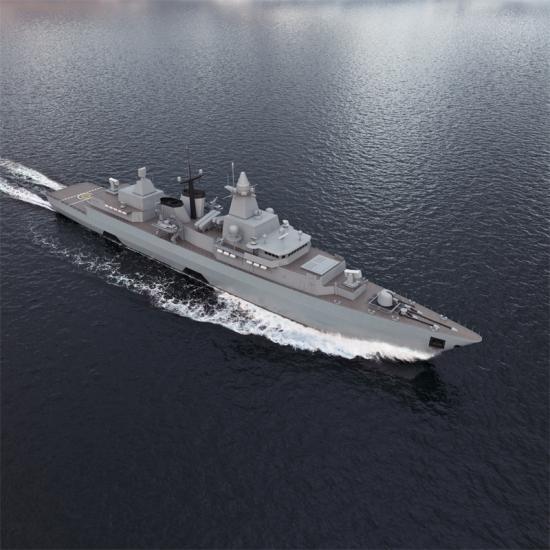 Den tyska marinens fregatter i klassen Brandenburg (F123) ska få nya marina radarsystem och eldledningssystem (bilden är en illustration).