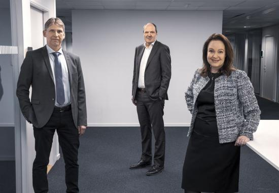 Jan Moström, vd och koncernchef LKAB, Martin Lindqvist, vd och koncernchef SSAB, Anna Borg, vd och koncernchef Vattenfall.