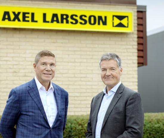 Åke Bäckman, ny försäljningschef på Axel Larsson, och Rolf Schytt, VD.