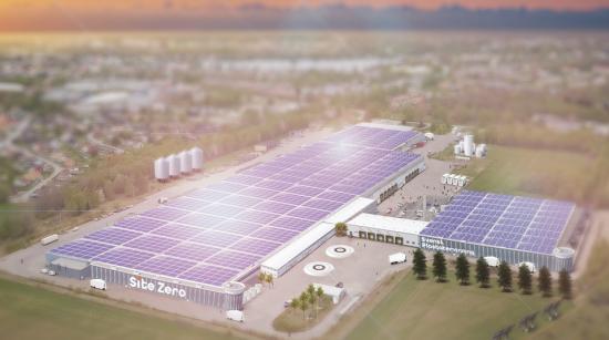 Site Zero i Motalaska bli världens största och modernaste anläggning för plaståtervinning och planeras stå klar 2023 (bilden är en illustration).