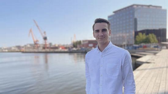 Elliot Sparrow, vd och medgrundare till Chalmers Ventures portföljbolag, Glenntex.