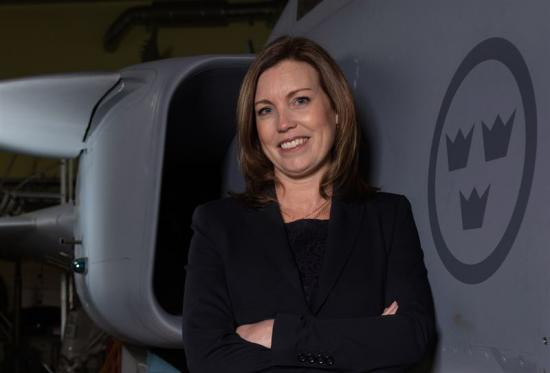 Jessica Öberg, chef för Saabs affärsområde IPS.