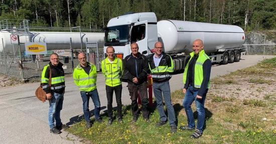 Biogasol ledningen, Skåpafors.